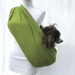 Pet Dog Sling Carrier-Moss Green Flannel
