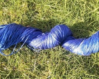 Natural Indigo Plant-Dyed Silk Yarn