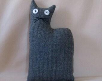 Gray Wool Cat Doll