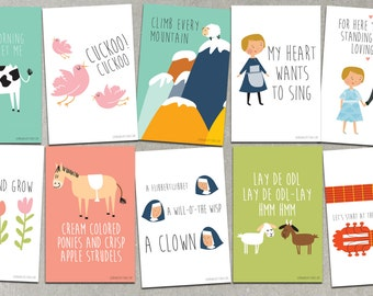 Sound Of Music Cards CHOOSE 2 3 4 Or 5 Greeting