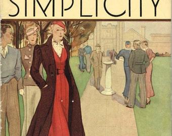 Instant Digital Download Simplicity Fall 1933 Pattern Book Ebook Catalog Magazine