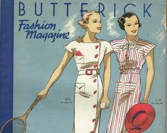 1930s Digital Download Butterick Summer 1935 Fashion Magazine Pattern Book Catalog