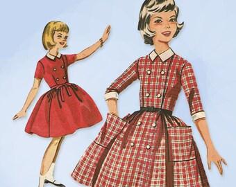 1960s Vintage Butterick Sewing Pattern 9884 Cute Little Girls Dress Size 10 28 B