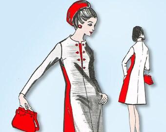 1960s Original Vintage Spadea Designer Pattern Y-3105 Uncut Misses Dress Sz 33 B