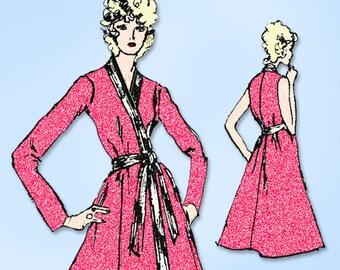 1970s Original Vintage Spadea Designer Pattern 70120 Uncut Misses Wrap Dress 32B