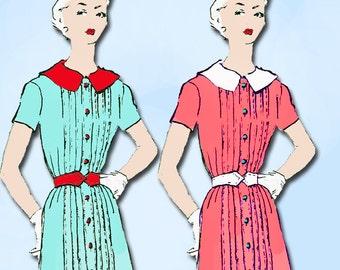 1950s Designer Spadea Sewing Pattern 1246 Uncut Brigance Misses Dress 36.5 B