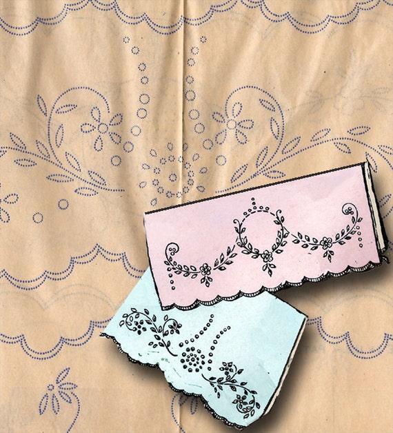 1920s Betty Burton Redwork Pillowcases Uncut Hot Iron Embroidery Transfer 1607