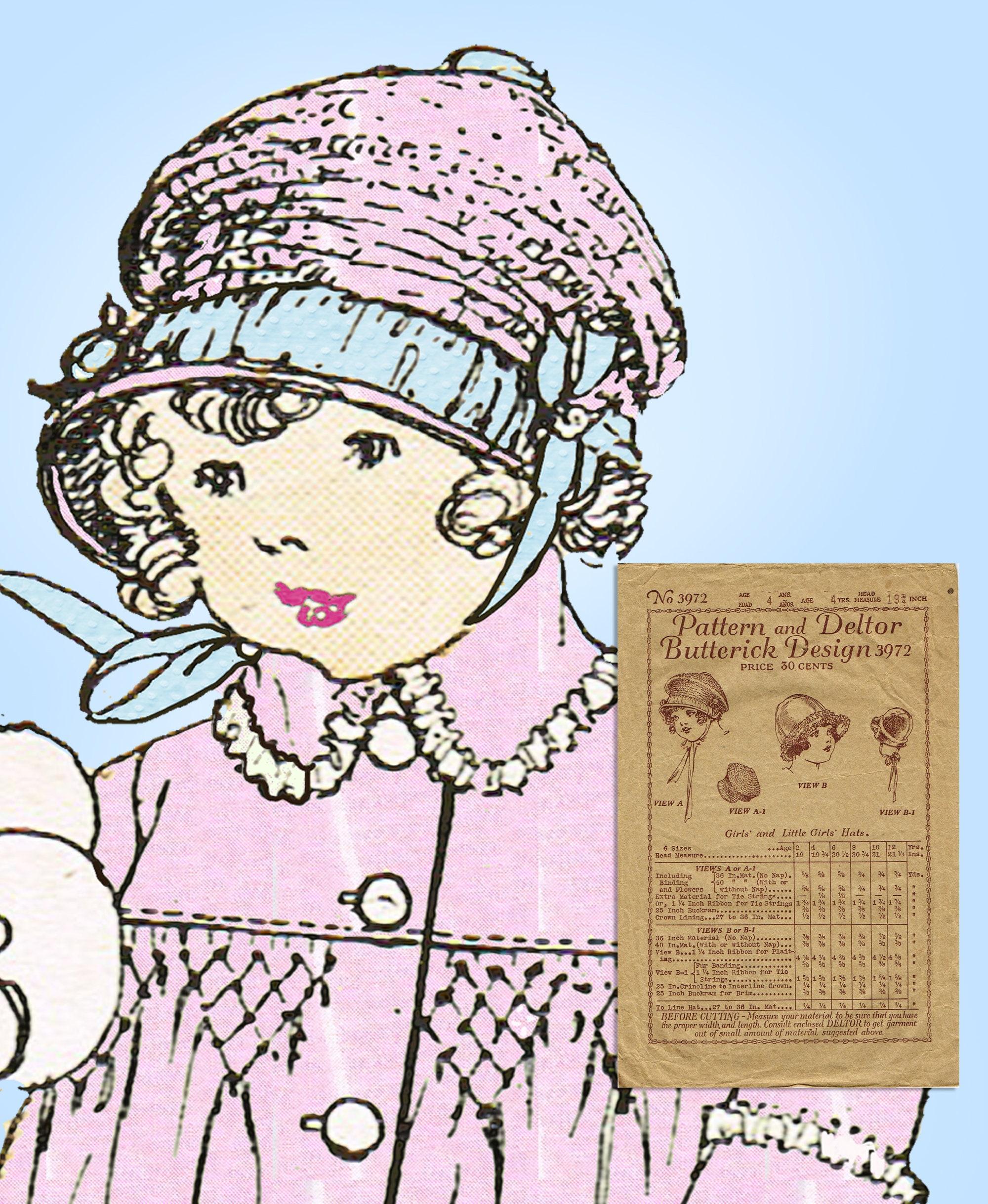 Antique Vintage Baby Bonnet Pattern sz1 ~ BEAUTIFUL!!!