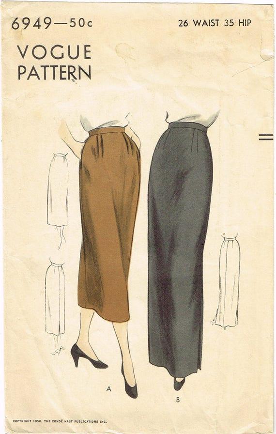 1950er Jahre Vintage Vogue Schnittmuster 6949 ungeschnitten | Etsy