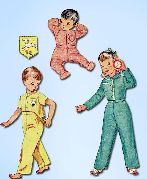 1950s Vintage Simplicity Sewing Pattern 3377 Baby Footie 2  274fa6c80