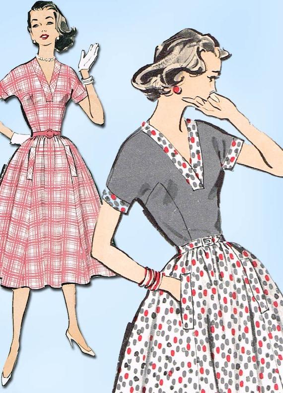 1950s Vintage Advance Sewing Pattern 8603 Charming Uncut Etsy