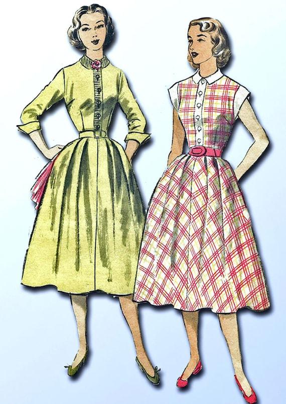 1950s Vintage Advance Sewing Pattern 6002 Uncut Misses