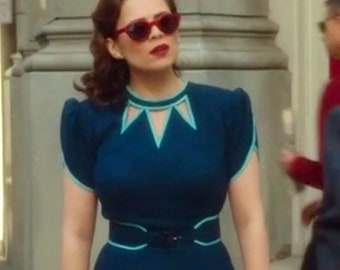 abe2919a0cb7 Agent Carter cosplay inspired custom made dress retro