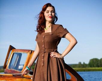 VIVA vintage inspired custom made swing dress retro 50s