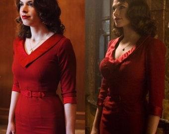 85141aae8 Agent Carter / captain america red cosplay inspired custom made dress retro