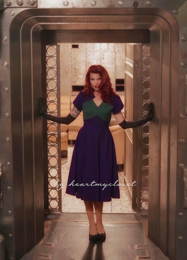 1940s Women's Outfit Inspiration Agent Carter cosplay inspired custom made dress retro $105.00 AT vintagedancer.com