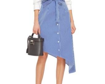Stripe summer skirt custom made  all sizes, many colors