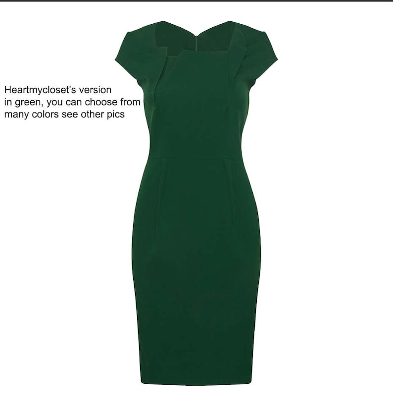 premier pencil celeb dress inspired from famous show custom made