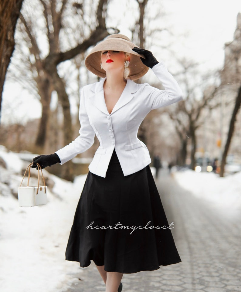 1950s Style Clothing & Fashion Marion suit jacket swing skirt 1950s  $160.00 AT vintagedancer.com