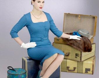 MISCHA pencil rockabilly vintage inspired dress 50s mad men