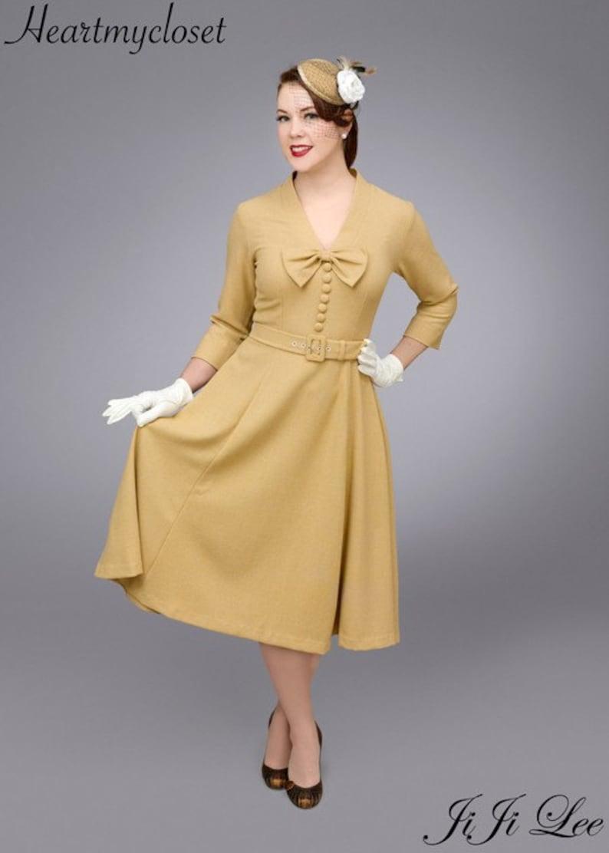 1950s Women's Outfit Inspiration SELENA rockabilly vintage inspired dress 50s custom made $98.00 AT vintagedancer.com