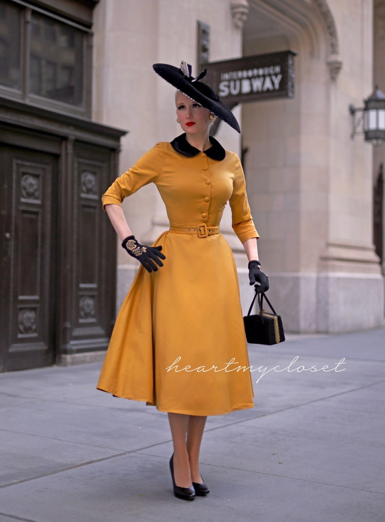 Vintage Style Dresses | Vintage Inspired Dresses STELLA vintage inspired swing / custom made dress retro 50s made to measure pinup clothing $109.00 AT vintagedancer.com