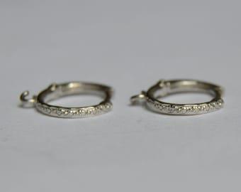 14 kt white gold leverbacks, engraved leverbacks, engraved earrings, engraved hoops, engraved hoop earrings