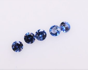 Benitoite Melee 2mm Round, California Gemstone, US Mined Gemstone, Blue Gem sold by the piece great for Eternity band