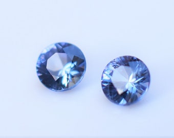 Benitoite Matched Round Pair 2.7mm, Round Blue Benitoite from California, California Gemstone great for Custom Earrings