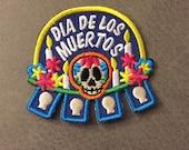 Dia de los Muertos Merit Badge Day of the Dead Patch
