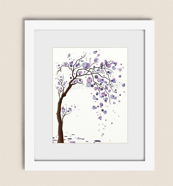 Purple Wall Art Tree Print, Tree Wall Decor for Bedroom, Living Room Tree  Wall Art, Lavender Room Art, Tree Art Print