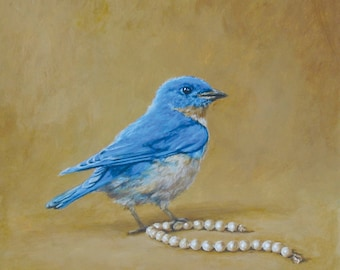Bluebird and Pearls