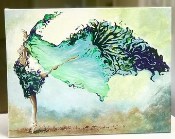 Ballet Dancing Art, Dancer, Carnival Ballet Dancer, Ballet Dancer, Dancer En Pointe, Flowing Dancer In Aqua