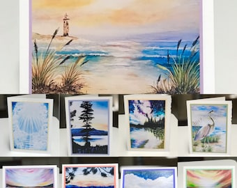Art Greeting Cards, Tahoe Photo Art Card, Abstract Art Card, Blank Art Greeting Card, Art Card, Water Art Card, Lighthouse Art Card