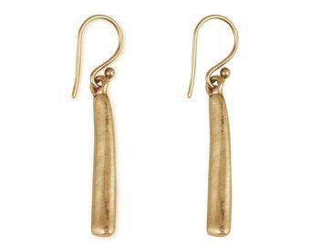 Bar Earrings - Artisan Earrings - Bronze Jewelry - Long Bar Earrings - Boho Jewelry - Rustic Earrings - Serenity Earrings (EB-BD)