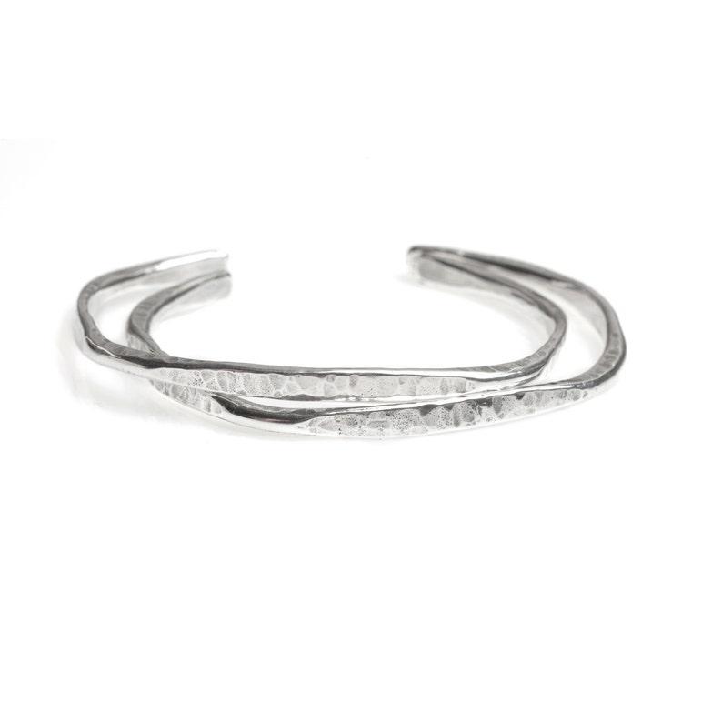 4339efe0be35 Hammered Silver Cuff Bracelet Sterling Silver Bracelet