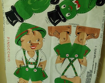 Vintage Pinocchio doll panel