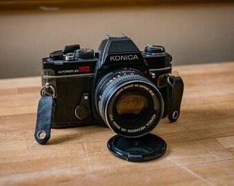 Konica Autoreflex TC film camera w/ 50mm F1.7 Hexanon Lens   Film Photography