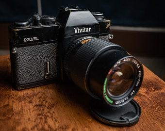 Vivitar 220 SL Film Camera with 28-70mm f/3.5 lens