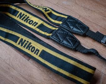 Vintage Nikon Camera Strap   Film Photography