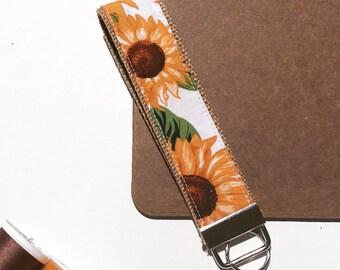 Key Fob Keychain - Summer Sunflower