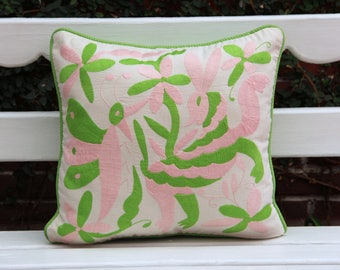 Pink and lime  Otomi Sham