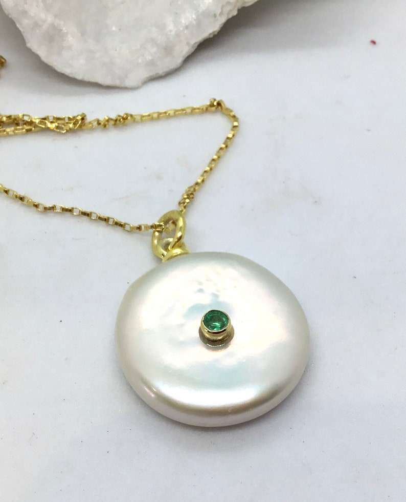 Huge Coin Pearl Pendant