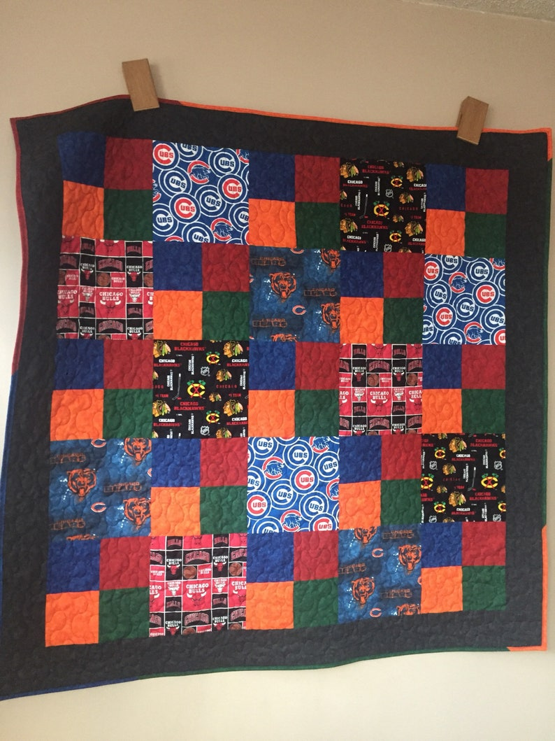Any Team Custom Sports Team Quilts Any Size