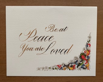 CLEARANCE: Be at Peace, You are Loved - One Greeting Card with Envelope