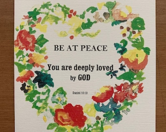 Be at Peace, You are Deeply Loved by God - Five Greeting Cards with Envelopes