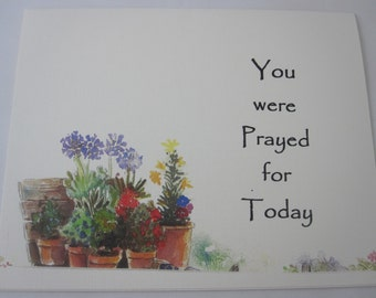 You Were Prayed For Today Greeting Card - One Folded Card with Envelope