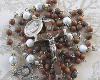 Franciscan Crown Rosary, Brown Unique Rosary, Man's Rosary, Woman's Rosary,