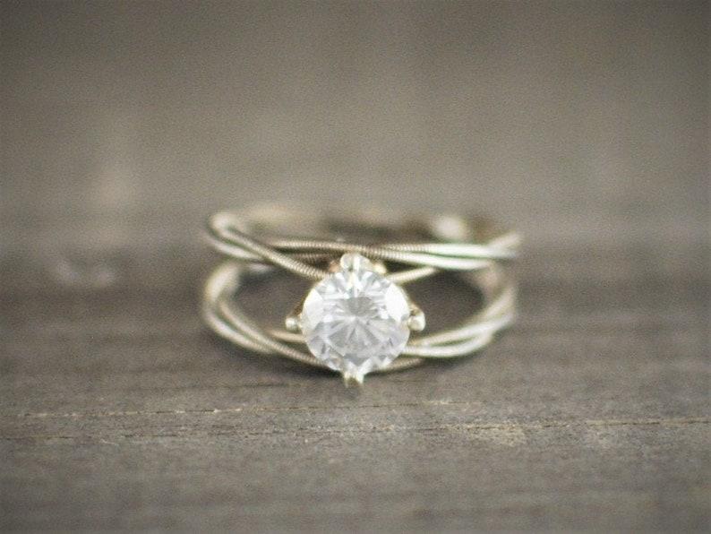 colori armoniosi A basso prezzo imballaggio forte Guitar String anello di fidanzamento, doppia banda, purezza anello, anello  di fidanzamento, unico anello di fidanzamento, Guitar String anello, anello  ...