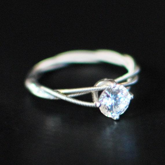 guitar string engagement ring purity ring birthstone ring etsy